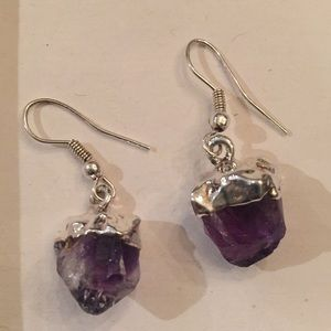 Jewelry - Silver and Amethyst earrings